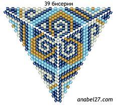 Delta - Mosaik Netting 10 | - Pläne für Sicken / Free Perlenmuster -