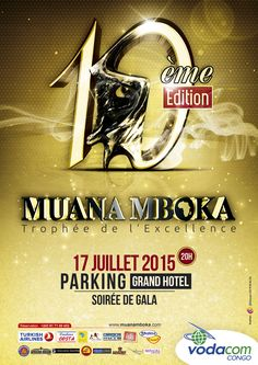 Affiche de la 10è Edition du Trophée Muana Mboka conçu par LD Concept à Kinshasa en 2015.