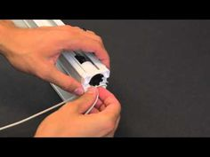 How to Restring a Cellular Honeycomb Shade (Graber/Bali) - YouTube