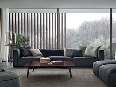 Sectional fabric sofa with removable cover SHANGAI | Sofa by poliform