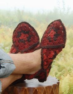 Granny Square Slippers Pattern