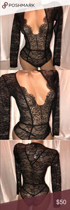 Beautiful black bodysuit Victoria's Secret Nasty Gal Tops