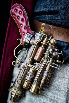 Chat Steampunk, Style Steampunk, Steampunk Weapons, Steampunk Gadgets, Steampunk Cosplay, Steampunk Design, Victorian Steampunk, Steampunk Fashion, Gothic Fashion
