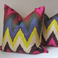 Ikat Pillow  Adras Ikat  Decorative pillow cover  by studiotullia, $80.00