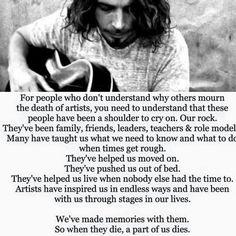 My heart is still broken...hasn't been this broken since george Harrison died
