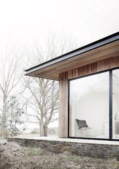 Reydon Grove Farm in Suffolk, England is a modern interpretation of a farmhouse by Danish architecture firm, Norm Architects.