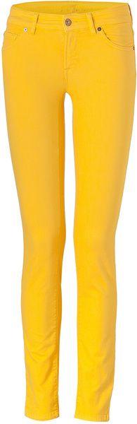 Drill Yellow Classic Skinny Cristen Jeans - Lyst