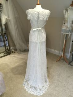 1891699aeda Flora by Sharon Hoey. Vintage styled elegance with a shimmer and a sparkle.  Sample available at Atelier Bride.