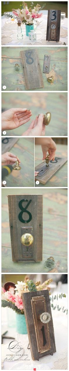 this has been one of my ABSOLUTE FAVORITE ideas from the VERY BEGINNING buuuuut I don't think we will need table numbers soooo maybe we could do our wedding date or something like that :) :) :)