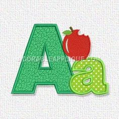 Here's a free embroidery design from Adorable Applique. It's the letter A.