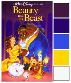 Disney Wedding Inspiration: Poster Palette - Beauty and the Beast