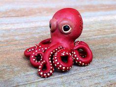 Tiny octopus  Handmade miniature polymer clay by AnimalitoClay