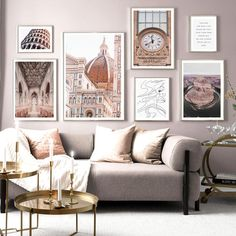Travel Gallery Wall, Gallery Wall Layout, Gallery Walls, Gallery Wall Frames, Living Room Decor, Bedroom Decor, Decorating A Large Wall In Living Room, Living Room Gallery Wall, Art For Living Room