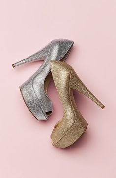 Silver or Gold Pumps? Enzo Angiolini Glitter Heels