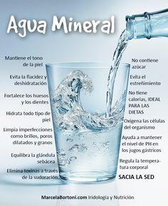 El agua mineral es agua que contiene minerales y otras sustancias disueltas que cambian su sabor y le dan un valor terapéutico.