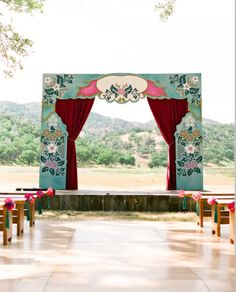 OMG this would be so cool to do for our altar. A stage is so so very appropriate. Maid of Honor... Can you handle it???? :)