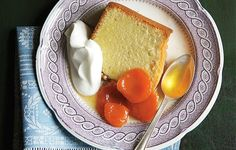 Oohh, sounds amazing! // Pound Cake with Grand Marnier–Poached Apricots
