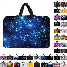 Night bright blue sky 15 inch laptop bags carry cover cases for15 15.3 15.4 15.5 Toshiba Samsung HP Acer soft zipper sleeve bags Price: USD 16.53 | United States