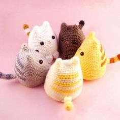 Dumpling Kitty, a free crochet amigurumi pattern on Ravelry. Chat Crochet, Crochet Mignon, Crochet Diy, Crochet Amigurumi, Love Crochet, Crochet Crafts, Crochet Dolls, Yarn Crafts, Kawaii Crochet