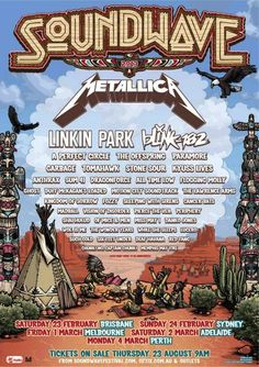 The first set of bands have been announced for Soundwave Festival 2013 in Australia above. Mores bands to be announced for the festival, which will take place February 23 in Brisband, February 24 in S...