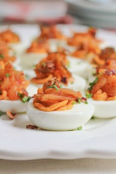 Traditional deviled eggs get a fun and delicious twist with the addition of spicy Korean kimchi. This dish is just the thing to shake you out of your summer is almost over blues and make you thrilled you signed up to bring the deviled egg tray to your next backyard party.