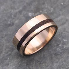 Equinox Nacascolo 14k Yellow Gold Wood Ring by naturalezanica