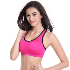 High Quality Wholesale 2017 New Spring Summer Women Seamless Bra Sports Bra Push Up Padded Running Bra Thin Tank Vest Top