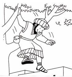zacchaeus luke l bible coloring printable