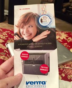 """""""If you or someone you know suffers from allergies or asthma, this is the perfect gift for them. What could be more important than your health?"""" -Nanahood Venta Review"""
