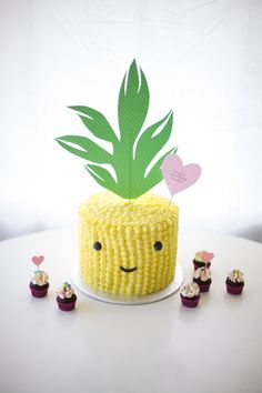 cute pineapple cake - coco cake land