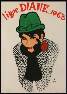 Paris Chapeaux 1963 - Gruau