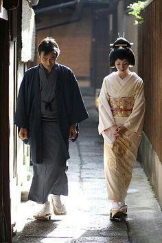 мужчина и женщина кимоно Япония \ man woman kimono Japan