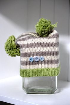 Grey and green hat - cute!