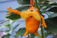 so cute!!!! Loved the movie:)  Dr Seuss The Lorax UNLESS needle felted soft by pearhugstudio, $50.00