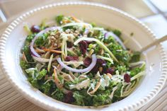 Kale and Broccoli Slaw Salad with Chicken: Copycat Recipe