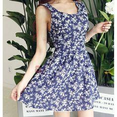 Sleeveless Backless Floral Print Mini Dress For Women