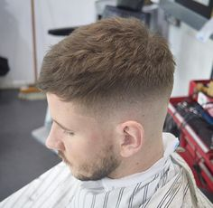 decided to switch it up again with this one, thanks man! To schedule an appointment, hit the link in my bio, thanks Mens Haircuts Short Hair, Trending Hairstyles For Men, Cool Haircuts, Hairstyles Haircuts, Short Hair Cuts, Short Hair Styles, Mens Cropped Hair, Beckham Hair, New Hair Do