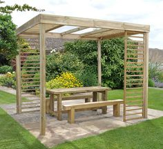 railway sleeper pergola - Google Search