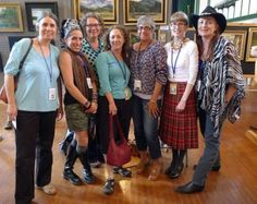 One of the best posses I ever rode with was this group of women at Adirondack Plein Air. From left, Mira Fink, Crista Pisano, me, Marlene Wiedenbaum, Laura Bianco, Kari Ganoung Ruiz and Tarryl Gabel.