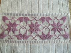 Bargello, Couture, Hand Embroidery, Diy And Crafts, Weaving, Hand Towels, Silk Ribbon Embroidery, Needlepoint Patterns, Ribbon Embroidery Tutorial