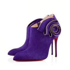 Christian Louboutin Mrs Baba 100mm Suede Violette