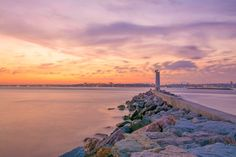 Beautiful sunset and the light house by Pelin Genç on 500px