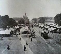 Porta Palazzo come non l'avete mai vista ecco una foto del 1915, quando si chiamava piazza Emanuele Filiberto. La Repubblica, ancora non c'era.