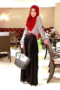 style dress muslimah for hi tea