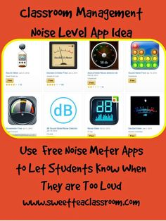 Free Classroom Management App Solutions: A Noise Meter Classroom Behavior Management, Behaviour Management, Teaching Humor, Teaching Resources, Teaching Ideas, Noise Meter, Classroom Organization, Art Classroom, Classroom Ideas