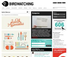 "BIRDWATCHING site design    ""Our common aim is to connect, support and promote women in graphic design everywhere."""