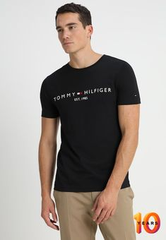 564c24c88 Print T-shirt - jet black   Zalando.co.uk 🛒. LacosteTommy HilfigerColor  CombinationsShirts