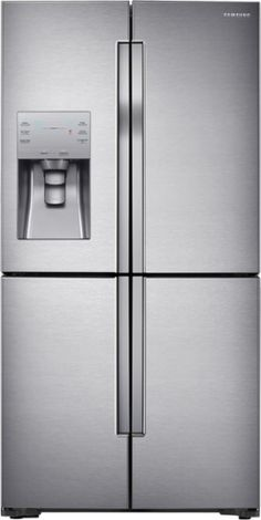 Samsung - 22.5 Cu. Ft. 4-Door Flex French Door Refrigerator with Convertible Zone - Stainless Steel - Front Zoom
