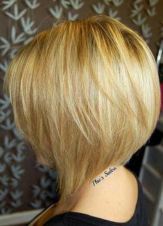 Phie's Salon graduated bob blonde