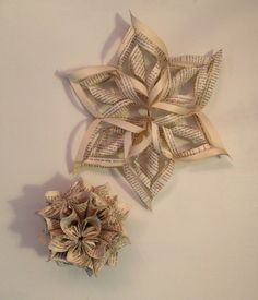 recycled old book as ornaments